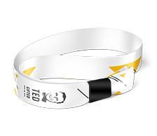 Event wristband 4/0, black plastic closure A48
