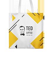 Shopping bag, short straps