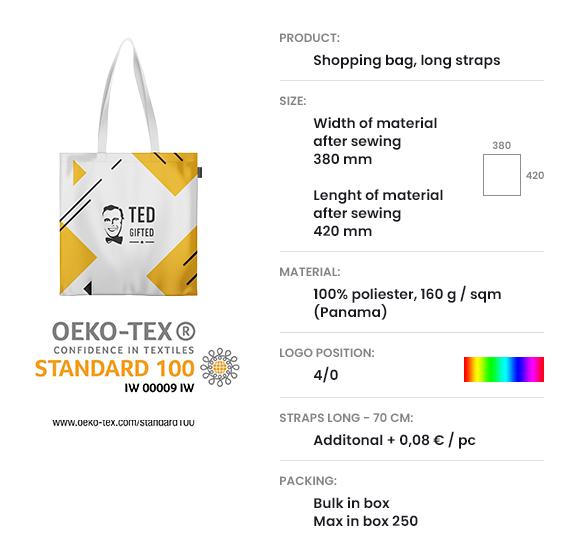 Shopping bag, long straps