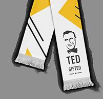Fan scarf 15 x 120 cm
