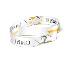 Event wristband 4/4, black plastic closure A48